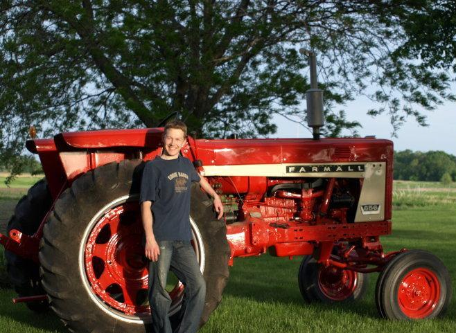Travis with Tractor